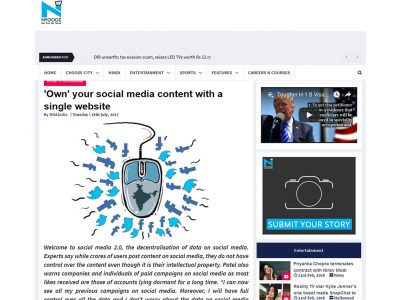 'Own' your social media content with a single website | Ahmedabad NYOOOZ