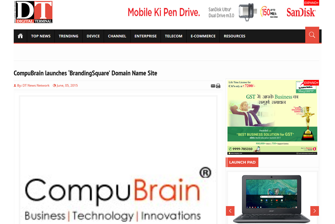 CompuBrain launches 'BrandingSquare' Domain Name Site