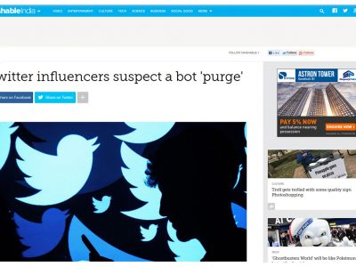 Twitter influencers suspect a bot 'purge' - Mashable