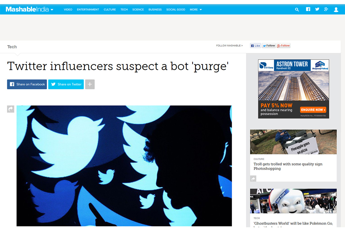 Twitter influencers suspect a bot 'purge'