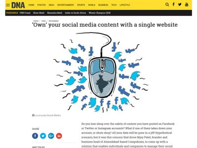 'Own' your social media content with a single website - DNA India