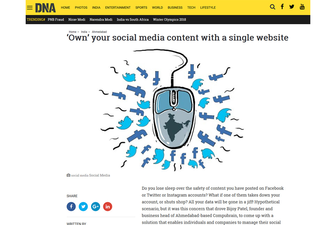 'Own' your social media content with a single website