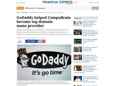 GoDaddy helped CompuBrain become top domain name provider
