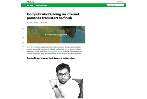 CompuBrain: Building an internet presence from start to finish