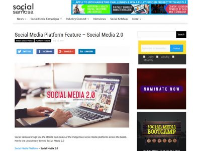 Social Media Platform Feature – Social Media 2.0 - Social Samosa